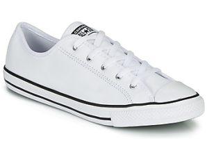 Xαμηλά Sneakers Converse CHUCK TAYLOR ALL STAR DAINTY GS LEATHER OX ΣΤΕΛΕΧΟΣ: Δέρμα & ΕΠΕΝΔΥΣΗ: Ύφασμα & ΕΣ. ΣΟΛΑ: Ύφασμα & ΕΞ. ΣΟΛΑ: Καουτσούκ