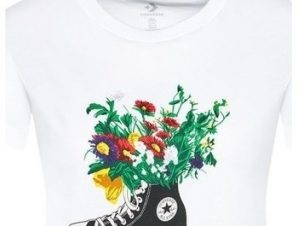 T-shirt με κοντά μανίκια Converse Flowers Are Blooming