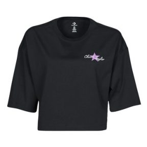 T-shirt με κοντά μανίκια Converse CHUCK INSPIRED HYBRID FLOWER OVERSIZED CROPPED TEE Σύνθεση: Βαμβάκι